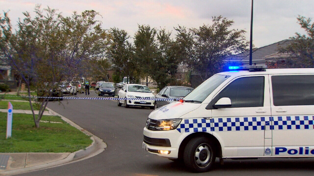 Police at the scene today. (9NEWS)