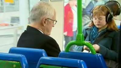 This woman's reaction to Malcolm Turnbull on a tram says it all