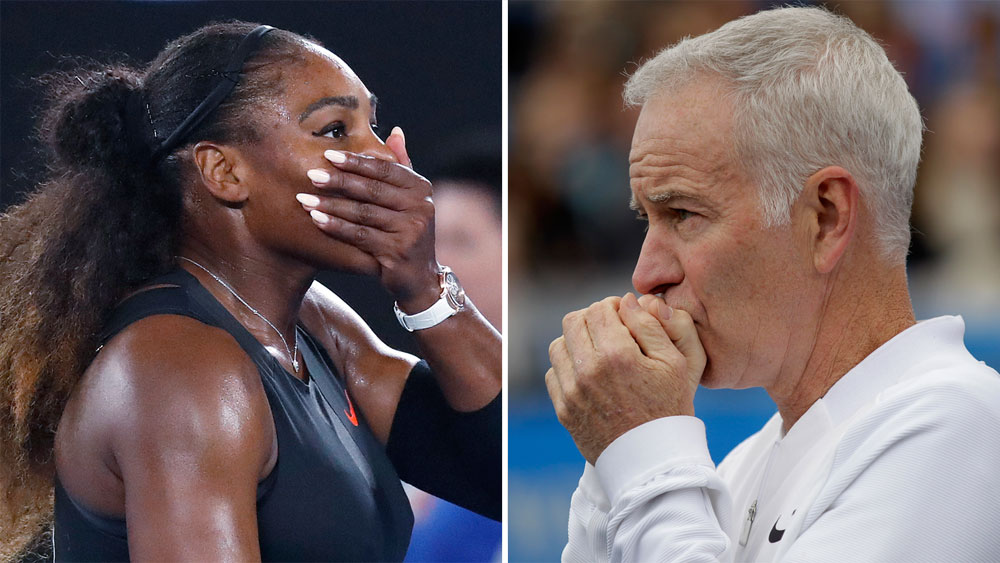 Serena Williams and John McEnroe.