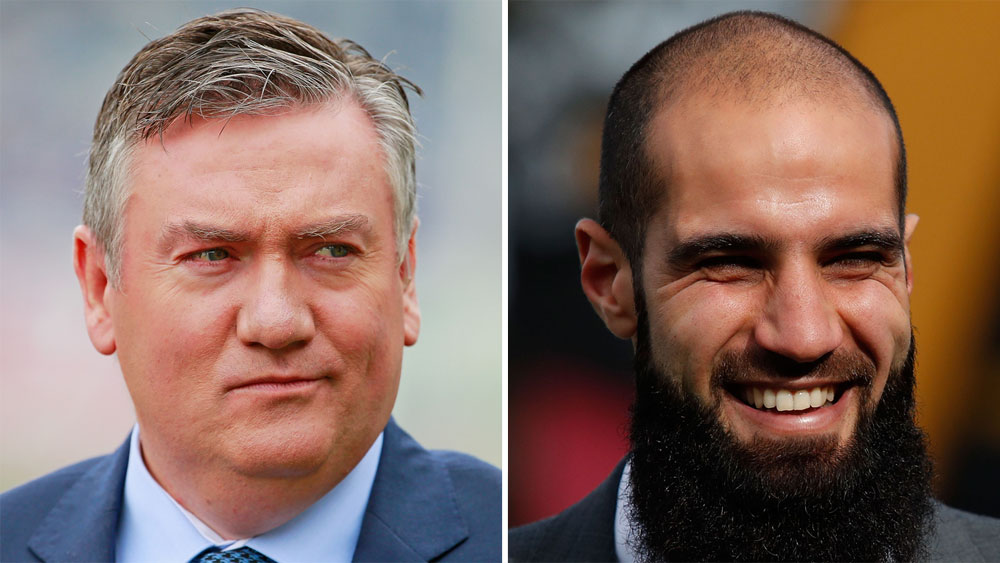 Eddie McGuire and Bachar Houli.