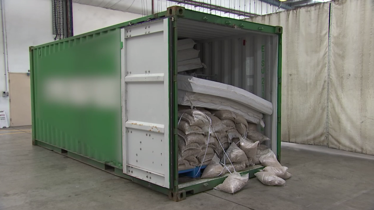 Police seized a shipping container containing one tonne of ephredine. (NSW Police)