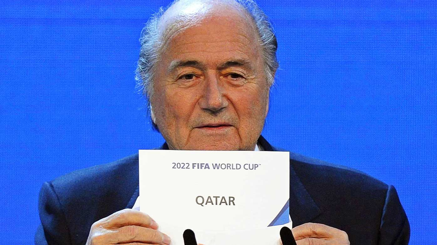 Then FIFA president announces Qatar as the host nation of the 2022 World Cup. (AAP)