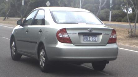 Jorn Jensen's silver Toyota Sedan. (Supplied)