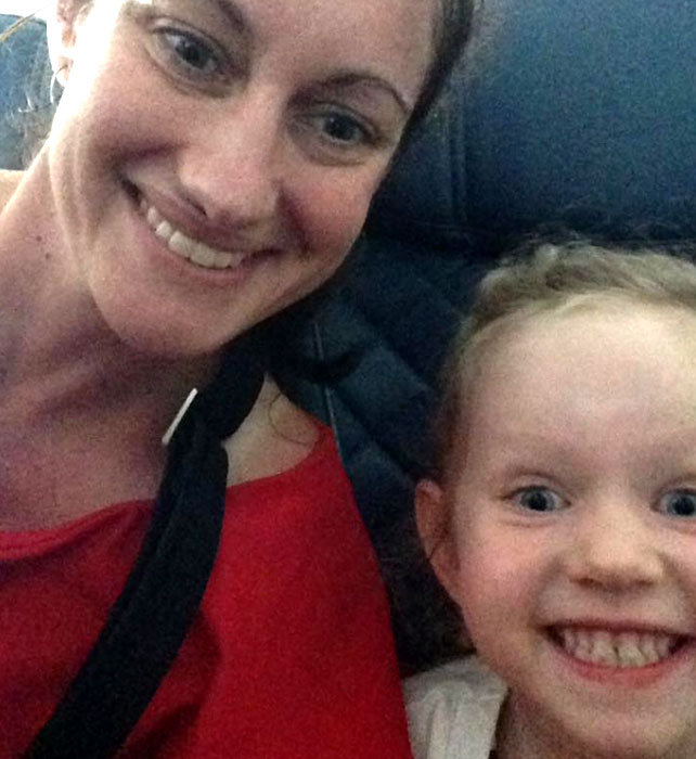 Kathie Potts and her family have relocated to Mexico so Annabelle can undergo her treatment, (Supplied)