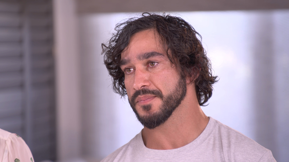 Thurston shed tears during the interview with Molan.