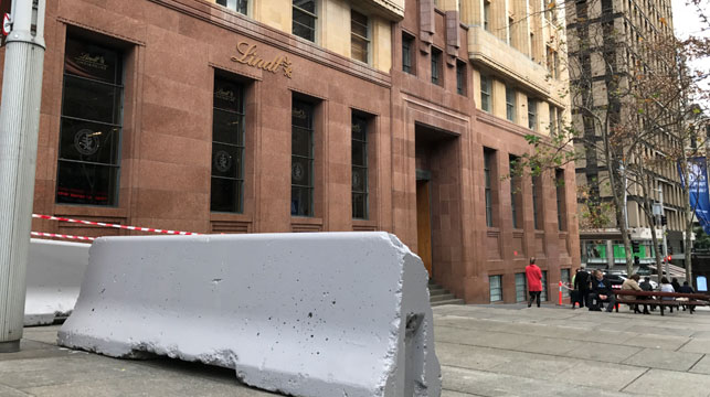 Clover Moore slammed for terror-prevention bollards in Sydney