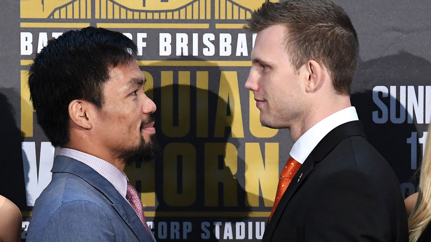 Manny Pacquaio's Aussie trainer claims nerves will beat Jeff Horn