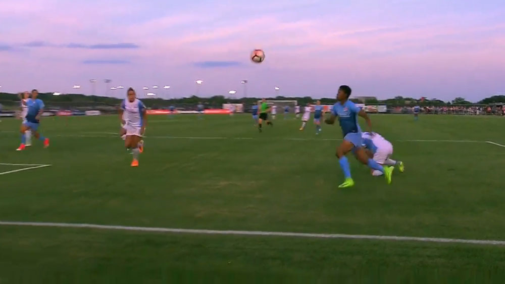 Matildas star Kerr scores stunner in US