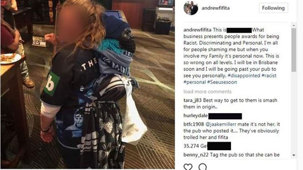 Cronulla Sharks and NSW prop Andrew Fifita was anything but happy. (Facebook)