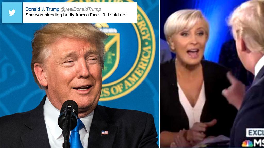 Donald Trump erupted on Twitter. (AAP)