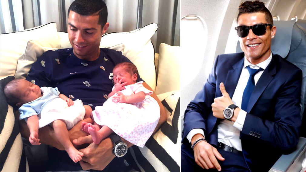 'The two new loves of my life': Cristiano Ronaldo jets off to meet his newborn twins