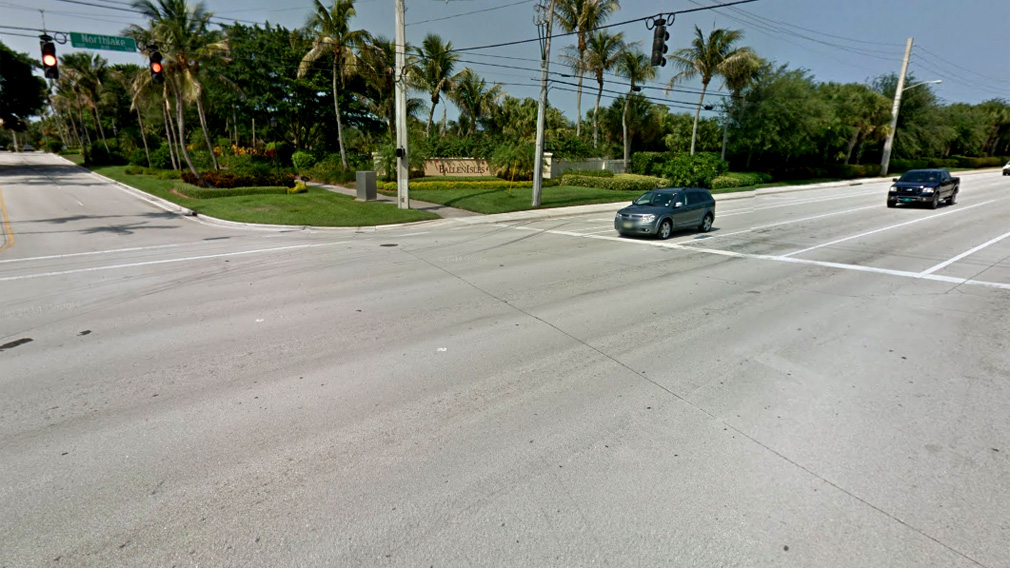 The intersection where the deadly crash happened. (Google)