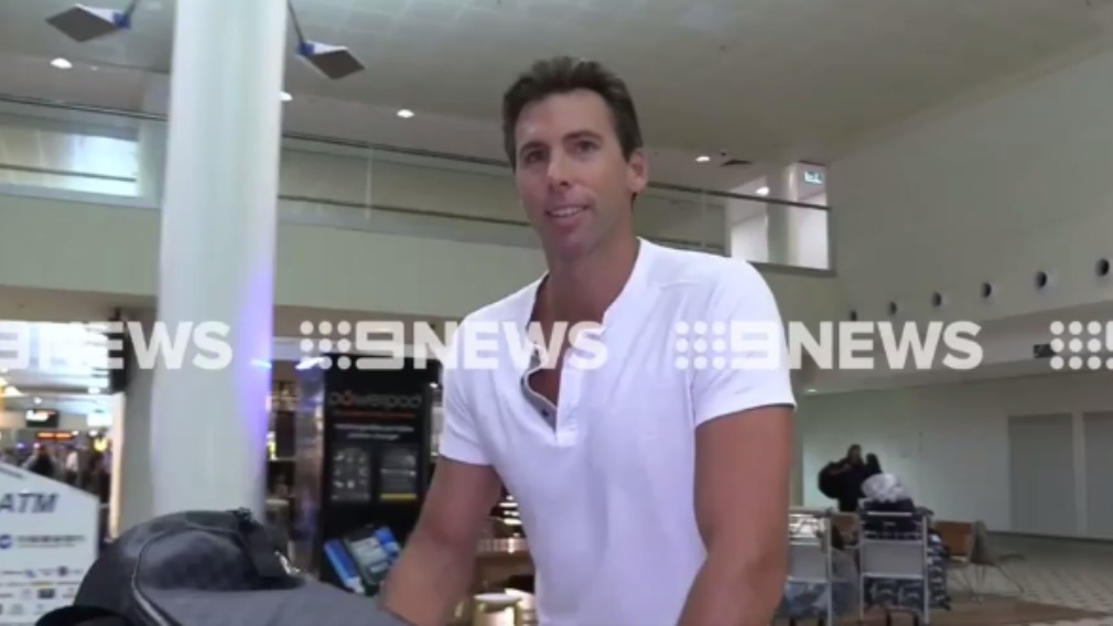 """""""It was great"""": Hackett smiled as he spoke of his rehab stint and returning home to his family. (9NEWS)"""