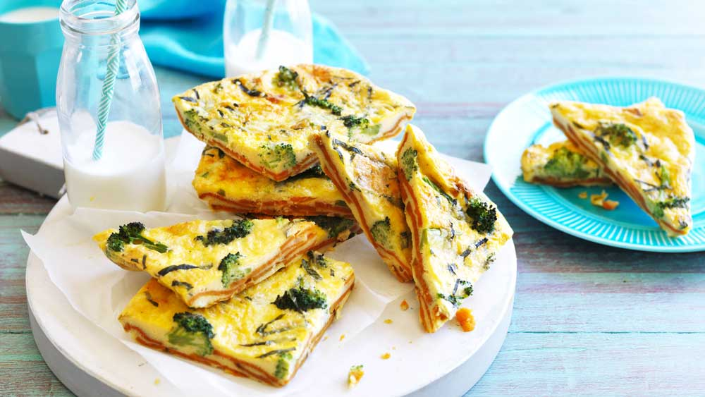 "Recipe: <a href=""http://kitchen.nine.com.au/2017/06/27/13/50/sweet-potato-and-broccoli-frittata"" target=""_top"">Sweet potato and broccoli frittata</a><br /> <br /> More: <a href=""http://kitchen.nine.com.au/2017/03/22/10/16/frittata-recipes-for-every-taste"" target=""_top"">frittatas</a>"