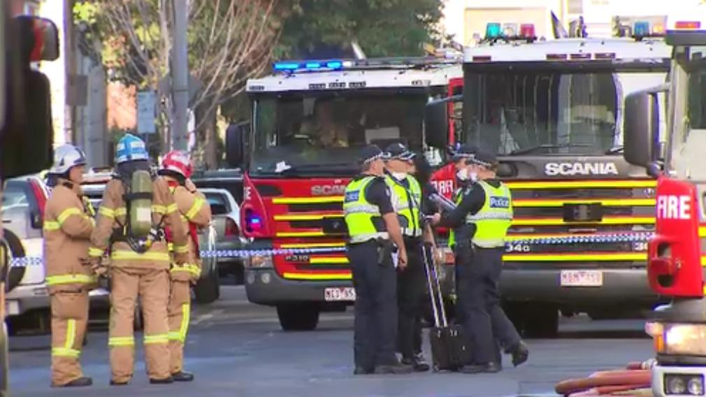 Man burnt, two arrested in Melbourne blaze