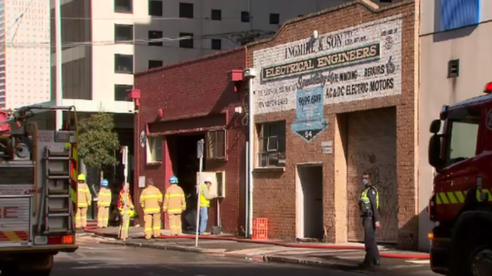 The man has been taken to hospital with critical burns. (9NEWS)