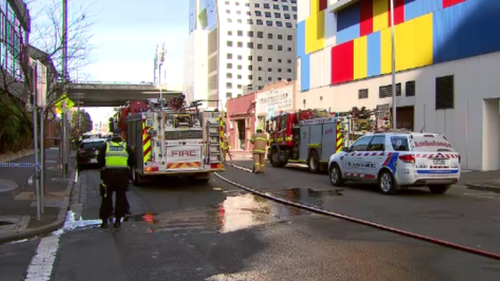 Police arrested two men shortly after the fire. (9NEWS)