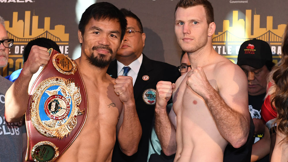 Manny Pacquiao and Jeff Horn. (File image)