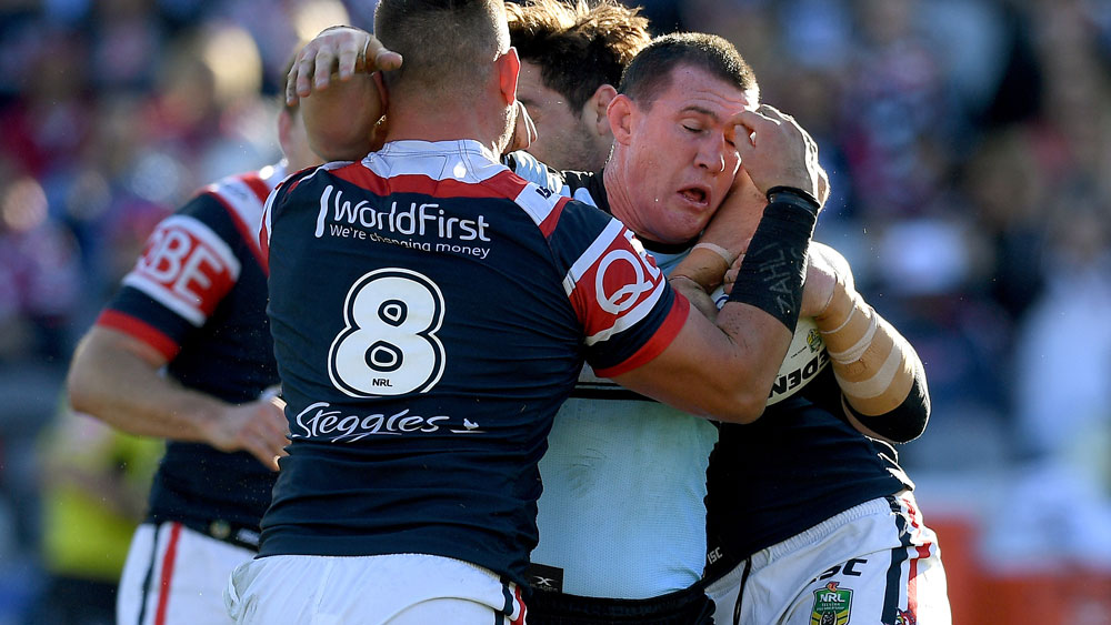 Sharks smash Roosters to flex NRL muscle