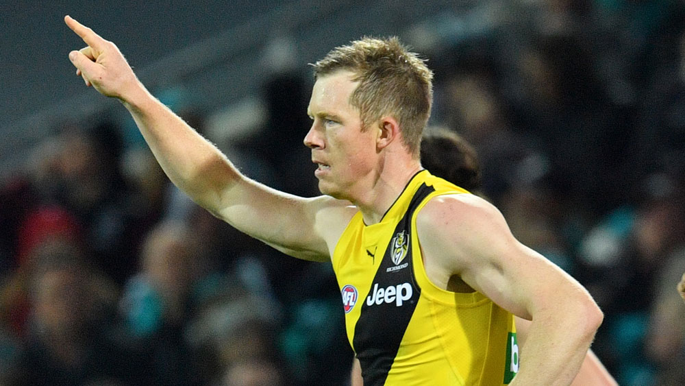 Jack Riewoldt and the Richmond Tigers had plenty to celebrate. (AAP)