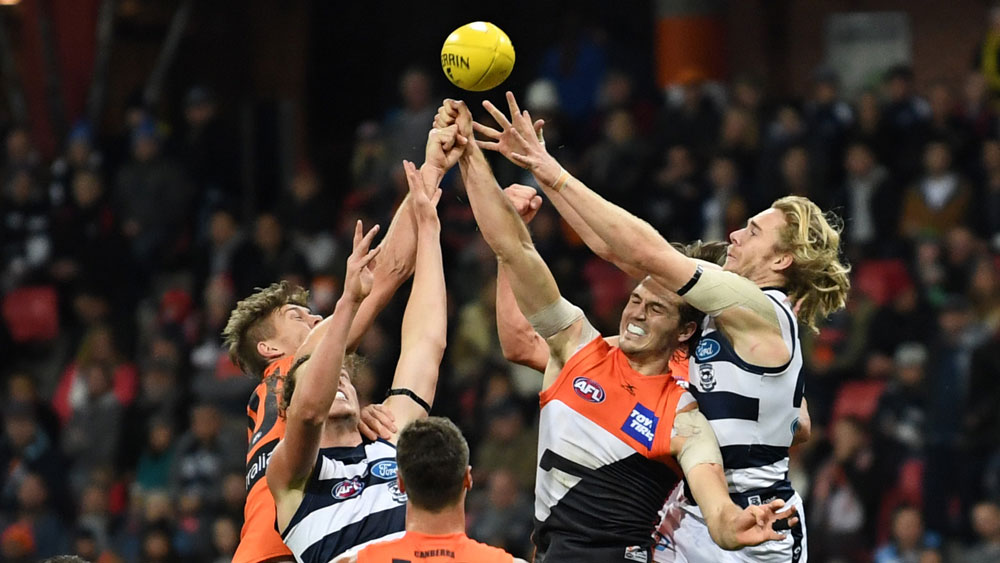 GWS, Cats battle to first AFL draw of 2017