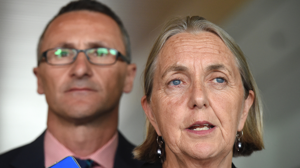 Richard Di Natale and Lee Rhiannon. (AAP)
