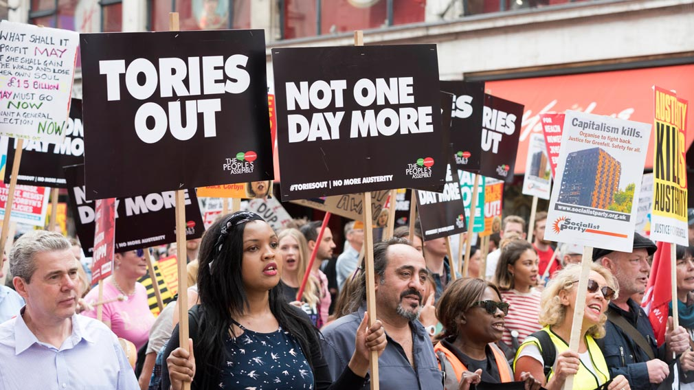 Thousands storm London streets demanding end to austerity