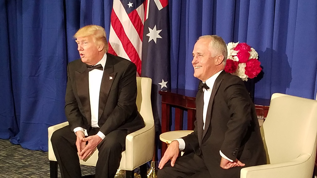 US President Donald Trump and Prime Minister Malcolm Turnbull met in New York back in May. (9NEWS/Robert Penfold)