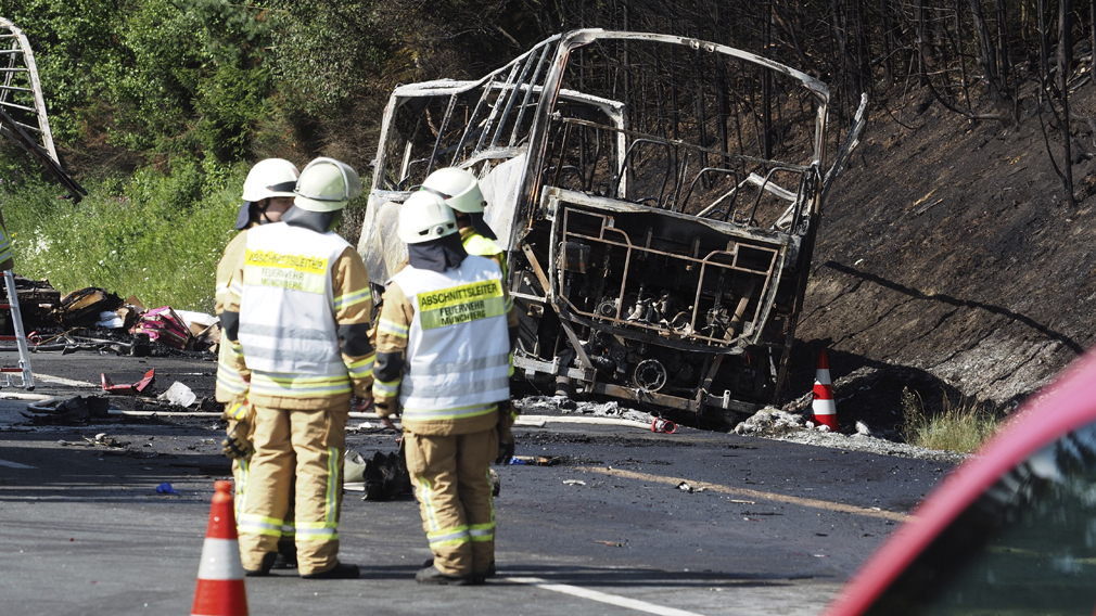 Eighteen people dead after fiery German bus accident