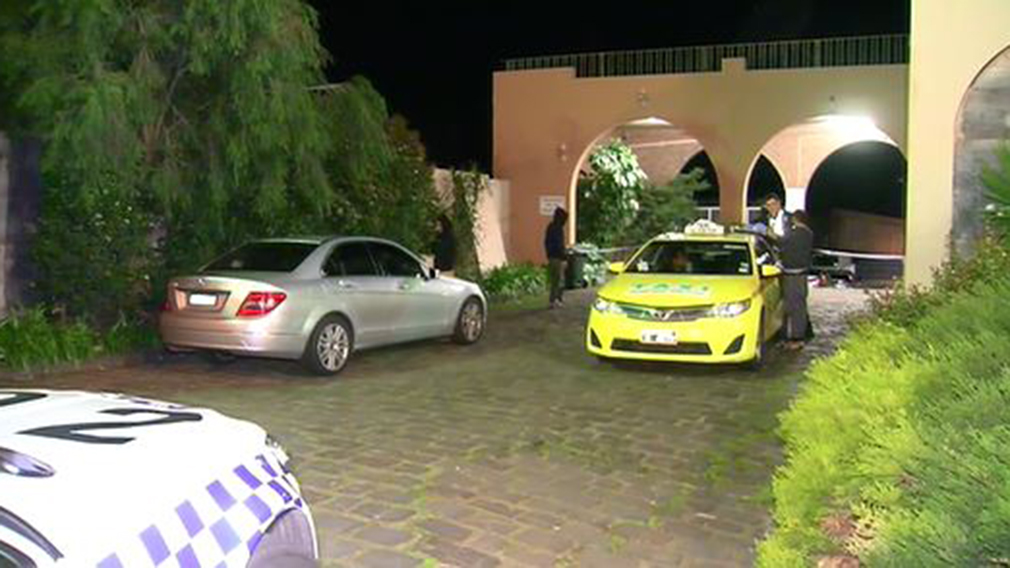 An alleged shooter is on the run after a man was found at a Melbourne motel suffering from a gun shot wound. (9NEWS)