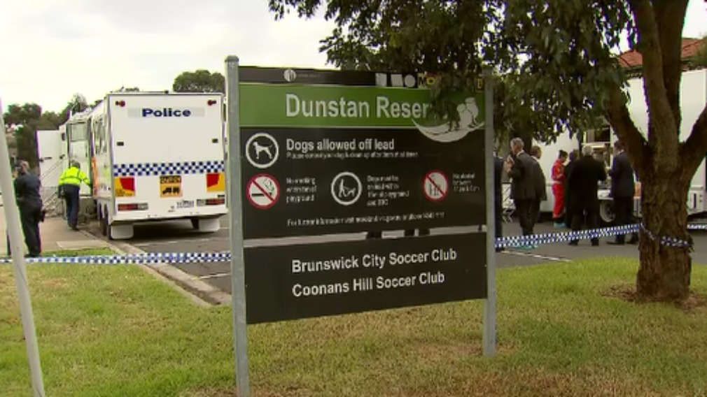 The body was found at Dunstan Reserve in Brunswick West. (9NEWS)