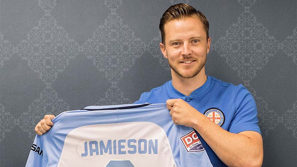 Scott Jamieson with Melbourne City shirt