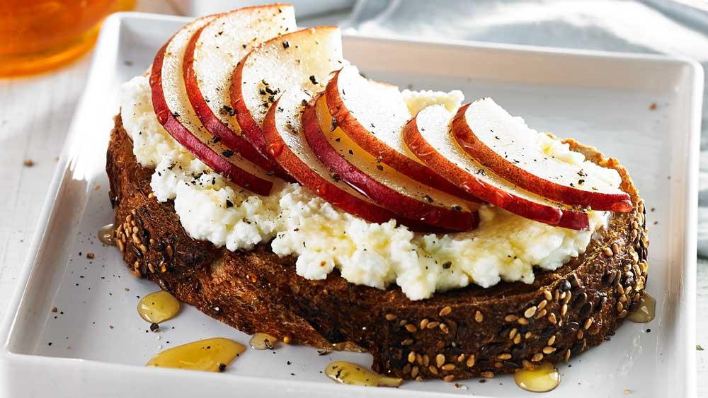Pear and ricotta toast recipe