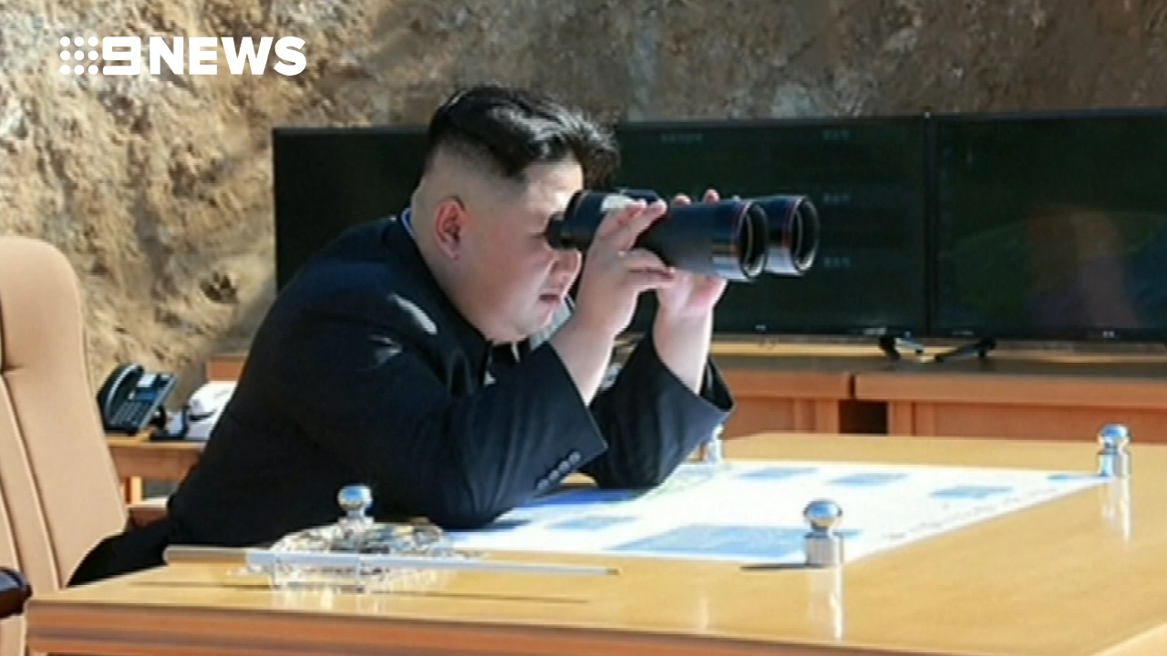 Kim Jong-un looks on. (Supplied)