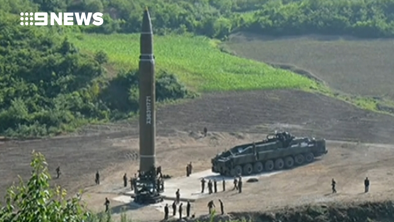 The missile North Korea claims is a ICBM. (Supplied)