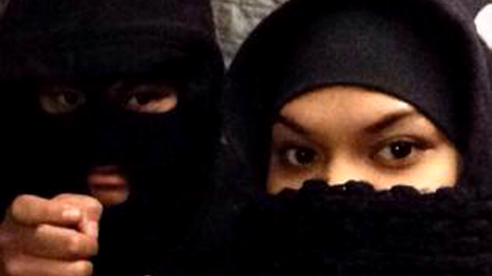 Terror accused 'Bonnie and Clyde' Alo Bridget Namoa (right) and Sameh Bayda.