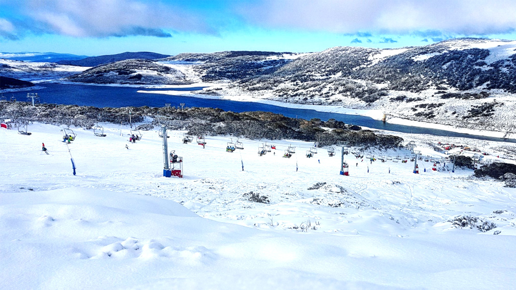 Australia's alps transformed by the first decent snowfall of winter