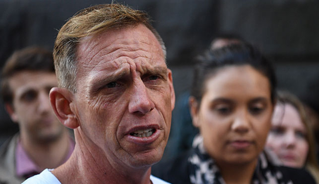 David Hardy, father of Joshua Hardy, talks to the media outside the Victorian Court of Appeal in Melbourne today. (Photo: AAP).