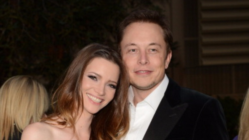 Musk with former wife, Talulah Riley. (Getty)