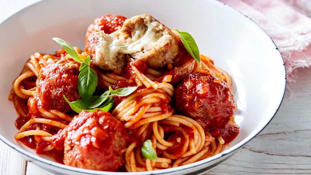 "Recipe: <a href=""http://kitchen.nine.com.au/2017/07/06/15/14/julie-goodwins-cheese-stuffed-meatballs"" target=""_top"">Julie Goodwin's cheese stuffed meatballs</a>"