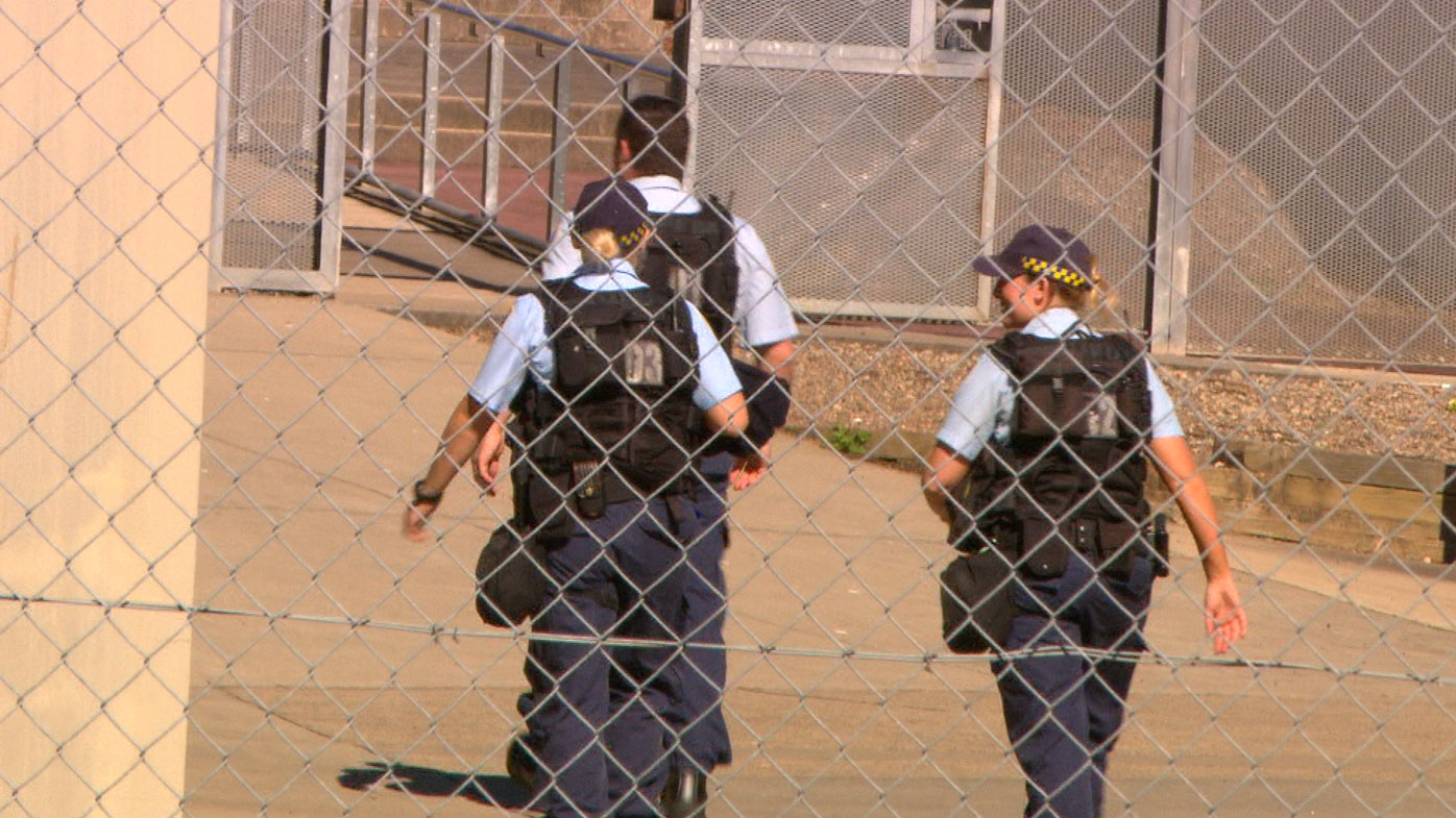 Correctional officers inside Silverwater Women's Correctional Complex.