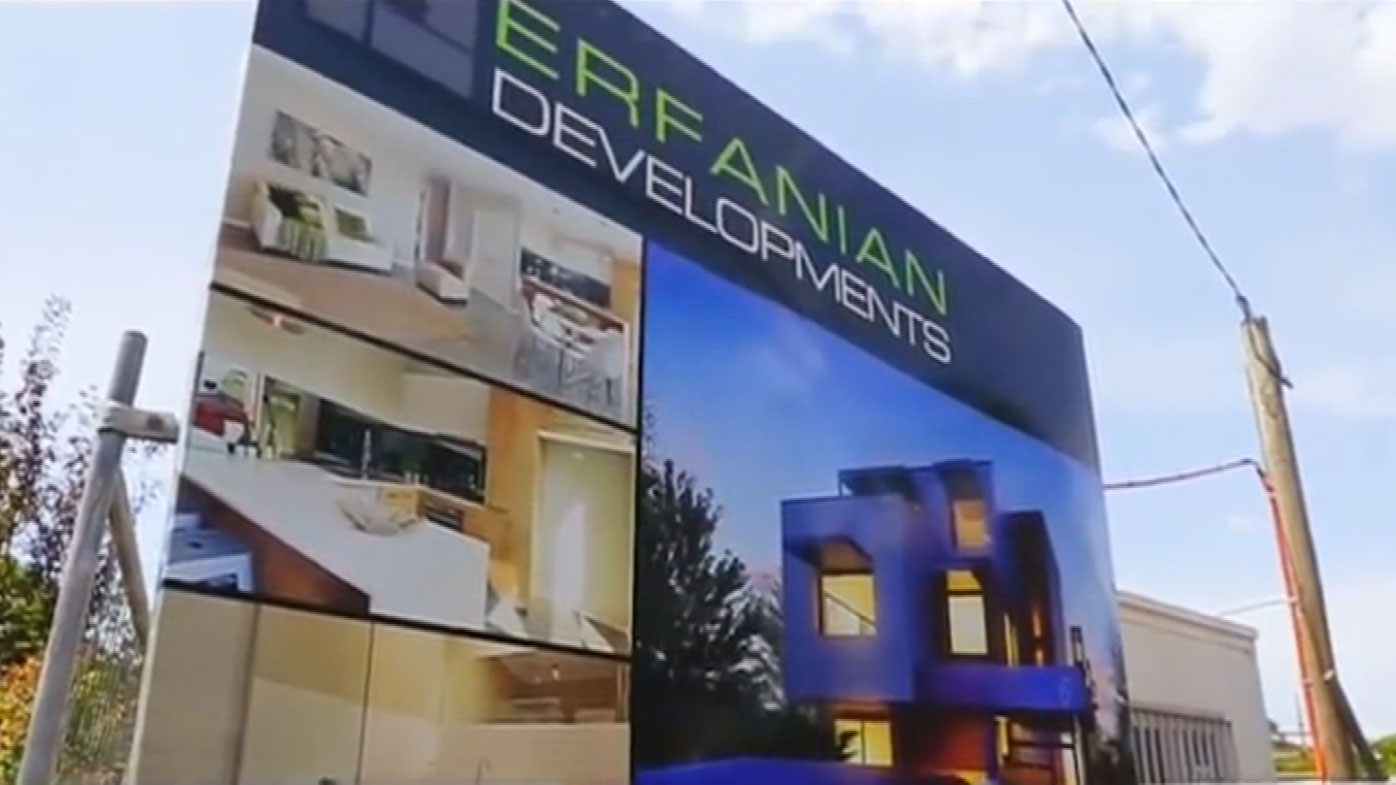 Contractors claim Erfanian Developments is disputing hundreds of thousands of dollars' worth of payments.