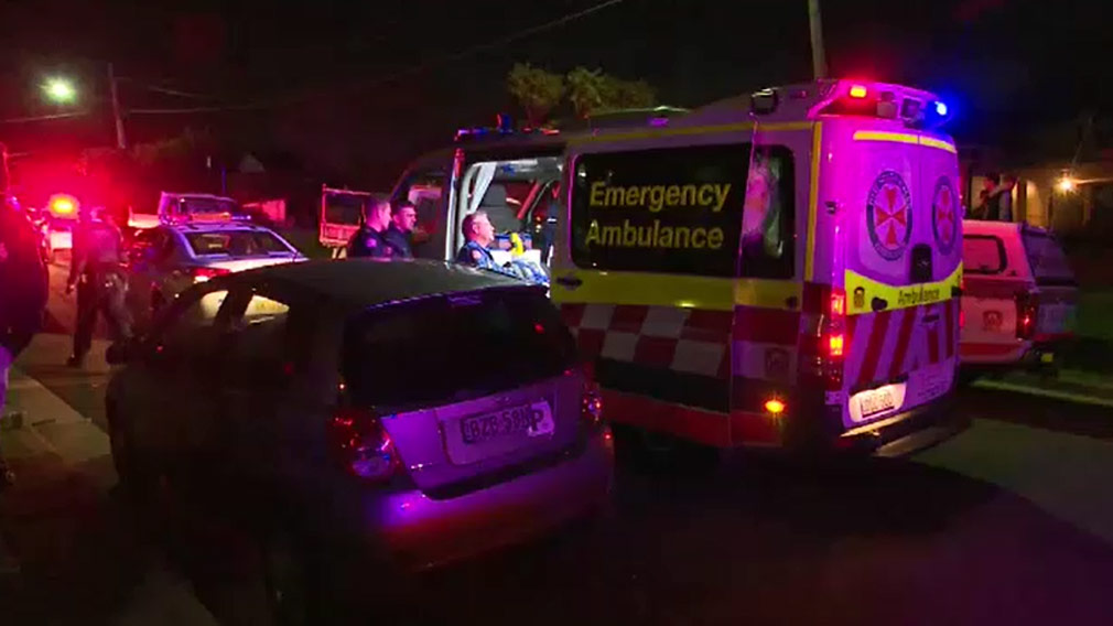 Paramedics treated the boy in an ambulance before he was taken to hospital. (9NEWS)