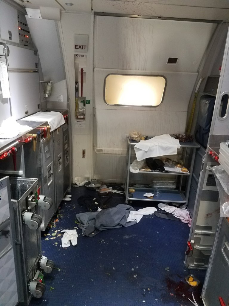 Damage to the cabin after the incident unfolded. (US Attorney's Office via Fox News)