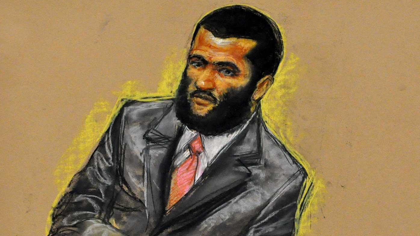 A 2010 courtroom sketch of Omar Khadr. (AAP)