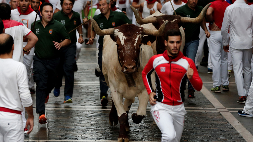 San Fermin attracts hundreds of thousands of visitors. (AFP)