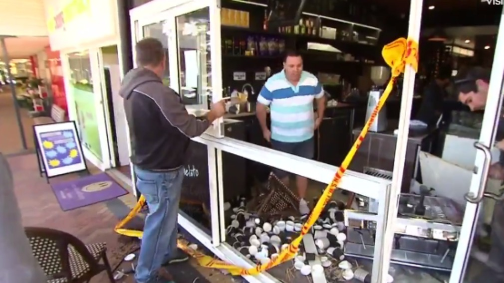 Coffee machines, expensive fridges and stock were extensively damaged in the incident. (9NEWS)