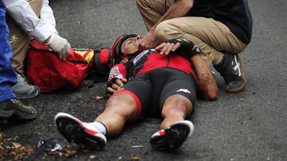 Porte hits out at Tour bosses, post-crash
