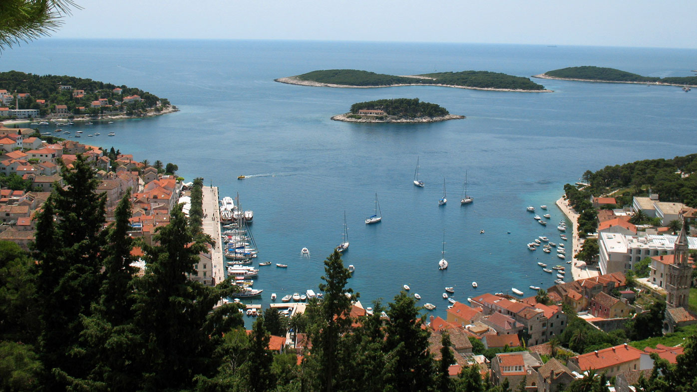 A file photograph of the Croatian party island of Hvar. (AAP)
