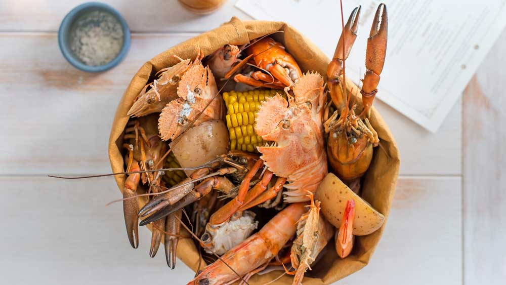 Nola Smokehouse's seafood broil